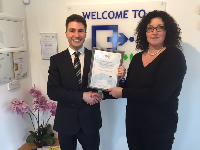 Carter & Faraday Receive ISO Accreditations